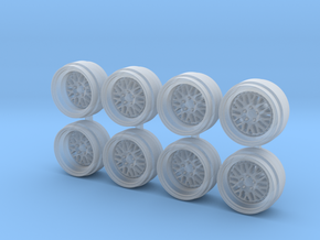 LM20 9-0 Hot Wheels Rims in Frosted Extreme Detail