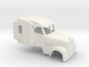 1/32 Frightliner Coronado FlatTop Cab in White Strong & Flexible