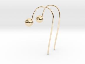 Hook Earrings in 14k Gold Plated Brass