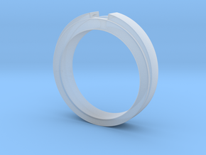 Engagement Ring Design - CC150-BL in Smooth Fine Detail Plastic