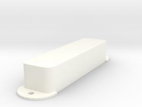 Jag PU Cover, Pickguard, Closed in White Processed Versatile Plastic