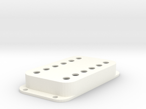 Strat PU Cover, Double Wide, Angled, Classic in White Processed Versatile Plastic
