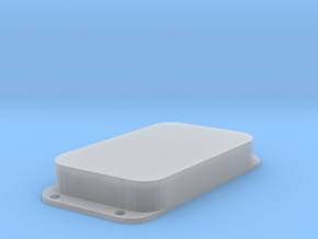 Strat PU Cover, Double Wide, Angled, Closed in Smooth Fine Detail Plastic