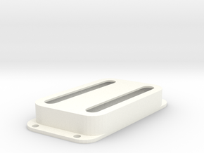 Strat PU Cover, Double Wide, Angled, Open in White Processed Versatile Plastic