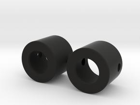 Bearing caps for 12mm tube in Black Natural Versatile Plastic