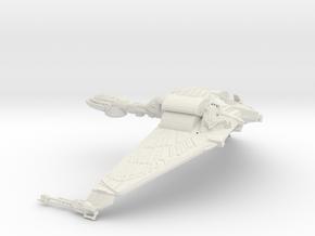 Klingon Bird of Prey 1:1000  Wings down in White Strong & Flexible