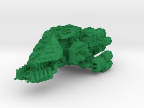 Death Dealer Battleship in Green Processed Versatile Plastic