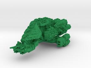 Cruel boi Battleship in Green Processed Versatile Plastic
