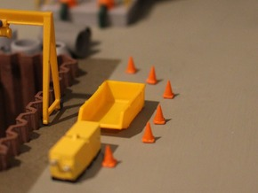 N Scale 20 Traffic Cones in Smooth Fine Detail Plastic