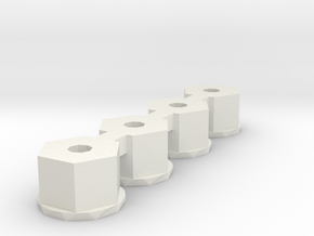 losi 4-40 nylon nut  in White Natural Versatile Plastic