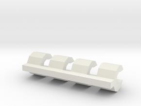 losi jrx pro snap clip / hub clip in White Natural Versatile Plastic
