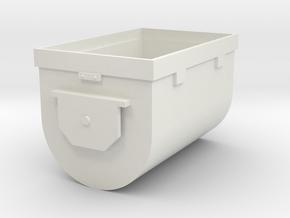 Mine Cart Body in White Natural Versatile Plastic