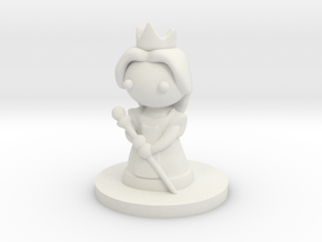 Queen (Beta) in White Natural Versatile Plastic