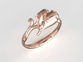 Love Ring in 14k Rose Gold Plated Brass