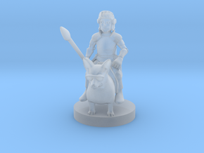 Halfling Cavalier with Corgi and Sunglasses in Smooth Fine Detail Plastic