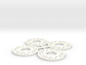Brake Rotor Set (30mm diameter) in White Processed Versatile Plastic
