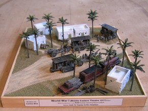 WW I Holt Tractor w. 8in Howitzer 1/144 in Smooth Fine Detail Plastic