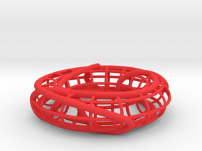 Connected Sum of Trefoils on a Torus in Red Strong & Flexible Polished