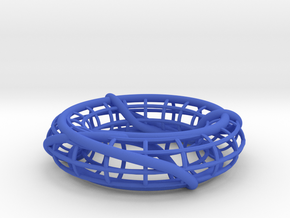 Prime Link 8^2_4 on a Torus in Blue Processed Versatile Plastic