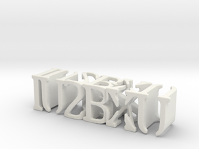 3dWordFlip: IU2BXU/IU2BXU in White Strong & Flexible