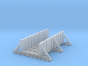 foot bridge 5cm low in Smooth Fine Detail Plastic