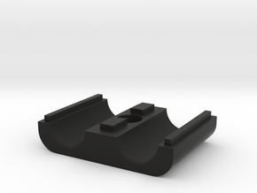 3/8 AN tubeclamp bottom in Black Natural Versatile Plastic