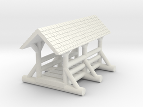 small foot bridge 4cm  roof  in White Natural Versatile Plastic