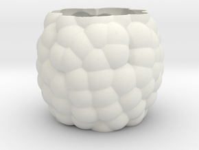 Bubbles Vase in White Strong & Flexible