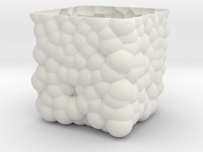 Cubic Bubbly Vase in White Natural Versatile Plastic