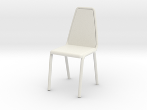 1:48 Vinyl Stacking Chair in White Natural Versatile Plastic: 1:24