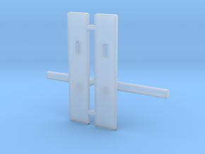 1:12 Handle door  in Smooth Fine Detail Plastic