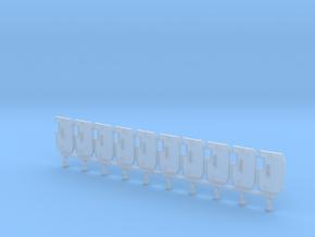 Boarding Shield V2 x10 in Smoothest Fine Detail Plastic