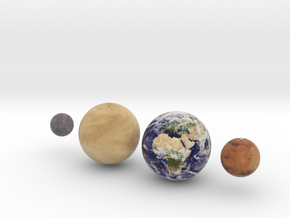 The 4 Rocky Worlds, 1:0.7 billion in Full Color Sandstone