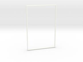 Pinball Speaker Panel - Border Trim in White Processed Versatile Plastic