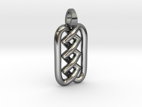 Zigzag knot [pendant] in Polished Silver