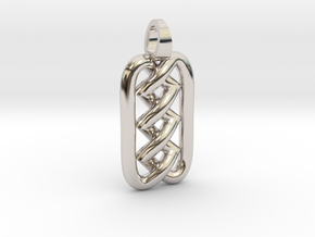 Zigzag knot [pendant] in Rhodium Plated Brass