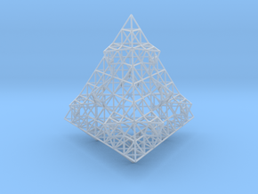 Wire Fractalised Tetrahedron in Smooth Fine Detail Plastic