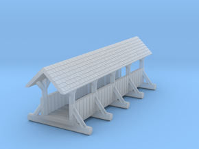 small foot bridge    planked roof long in Smooth Fine Detail Plastic