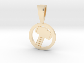 Mjollnir in 14k Gold Plated Brass