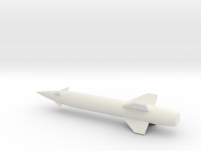 FJ4B-144scale-6-AGM12Missile(2) in White Natural Versatile Plastic