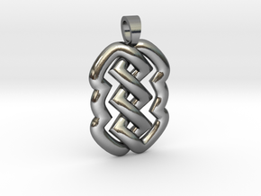 Z knot [pendant] in Polished Silver