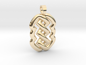 Z knot [pendant] in 14K Yellow Gold