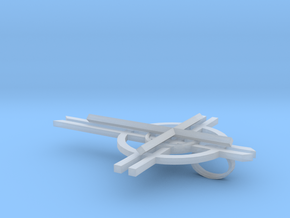 Cross Pendant in Smooth Fine Detail Plastic