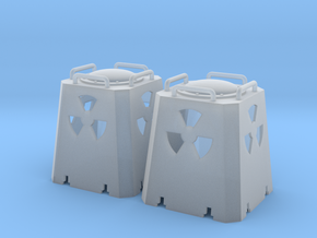 Radioactive Casks - Zscale in Smooth Fine Detail Plastic