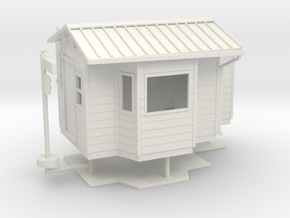 1/64th DOT Weigh scale station building in White Natural Versatile Plastic