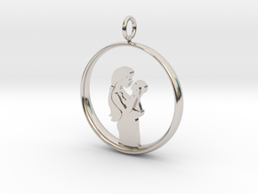 Mother & Infant Pendant -Motherhood Collection in Rhodium Plated Brass