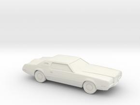 1/76 1971 Lincoln Continental Mark IV in White Natural Versatile Plastic