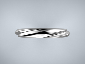 Helix Cut (Inside diameter 16.6 mm) in Fine Detail Polished Silver
