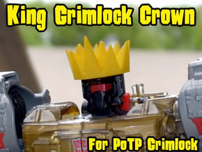 Grimlock Crown for Power of the Primes in Yellow Processed Versatile Plastic