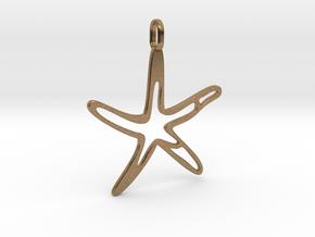 starfish pendant jewerly in Natural Brass